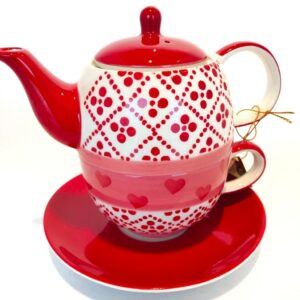 Tea for One Set Red